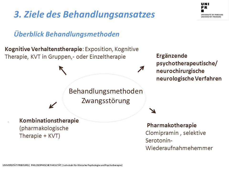 UNIVERSITÄT FRIBOURG| PHILOSOPHISCHE FAKULTÄT | Lehrstuhl für Klinische Psychologie und Psychotherapie| Kognitive Verhaltenstherapie: Exposition, Kog
