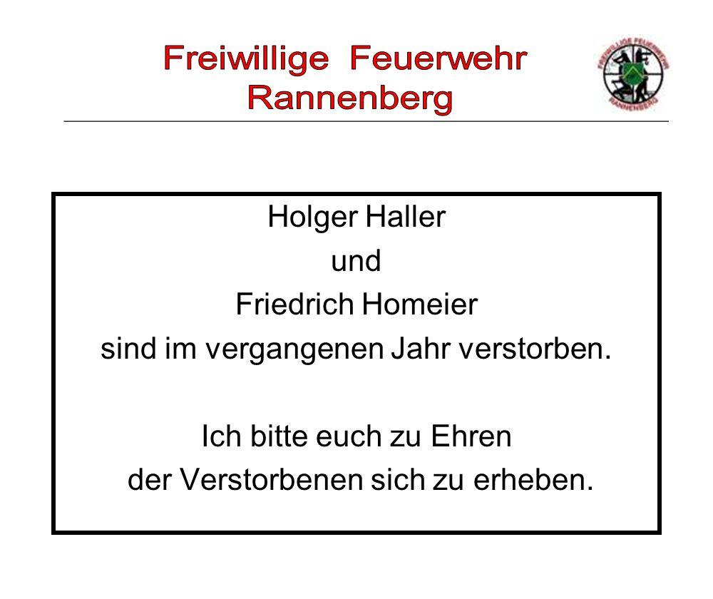 _____________________________________________________ Holger Haller und Friedrich Homeier sind im vergangenen Jahr verstorben. Ich bitte euch zu Ehren