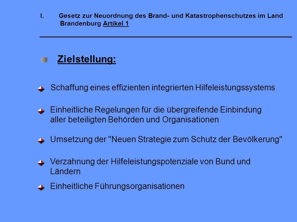 Brand- und Katastrophenschutzrecht Gesetz zur Neuordnung des Brand- und Katastrophenschutzrechts im Land Brandenburg vom 24. Mai 2004 (BbgBKG) Für die