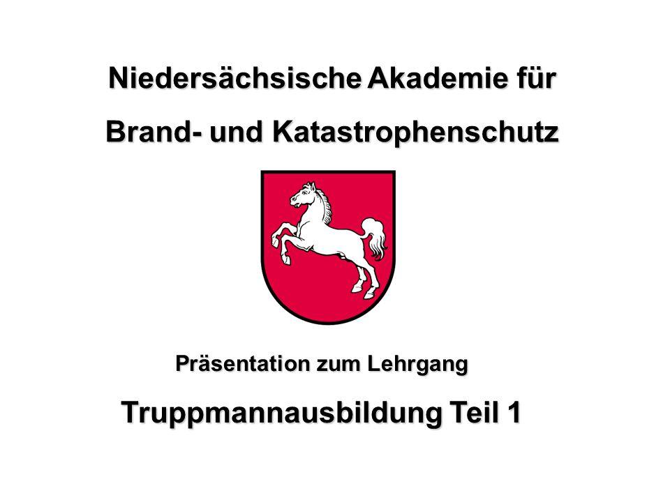 NABK Niedersächsische Akademie für Brand- und Katastrophenschutz Truppmannausbildung Teil 1 Niedersächsische Akademie für Brand- und Katastrophenschut