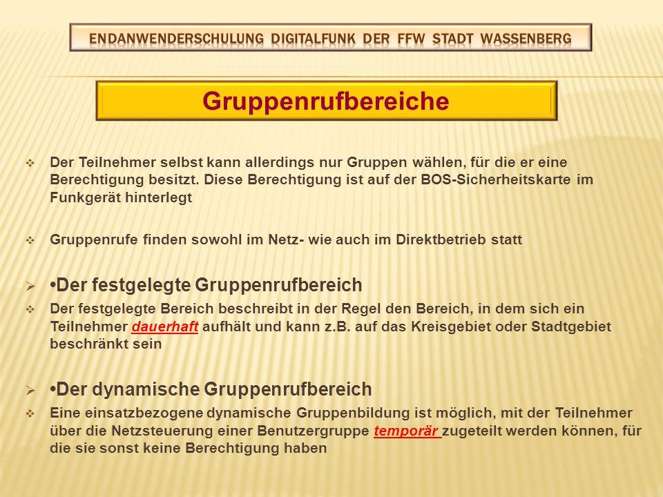 Netzbetrieb (TMO) (Trunked Mode Operation) ( Bündelfunk) Direktbetrieb (DMO) (Direct Mode Operation) ( Direktbetrieb) Datenbetrieb Betriebsarten