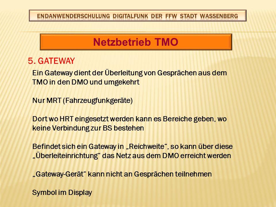Netzbetrieb TMO 5. GATEWAY GATEWAY