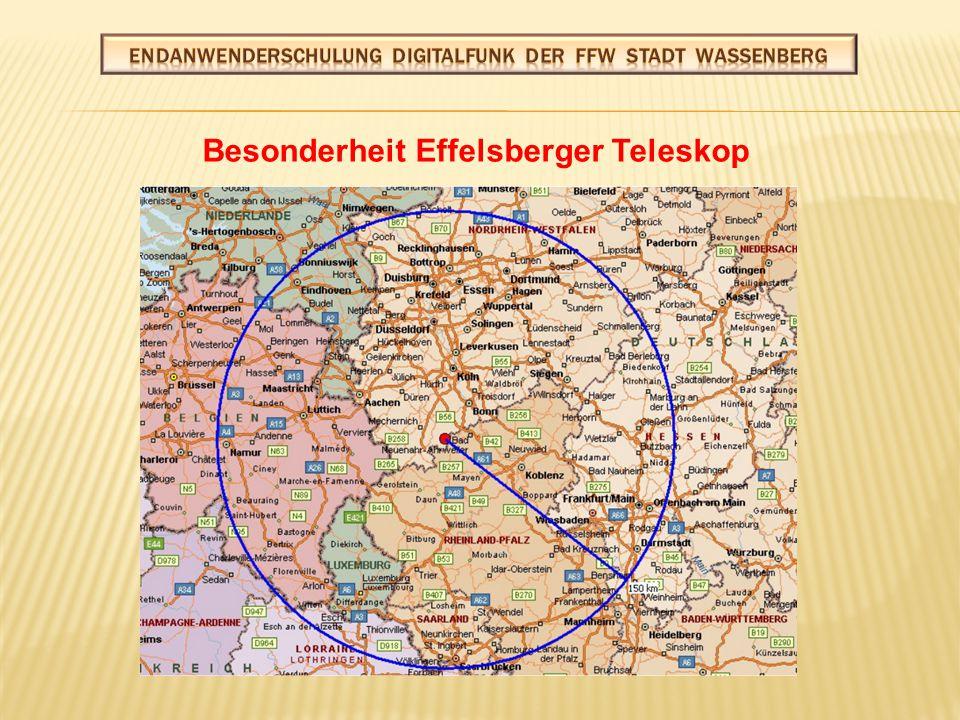 Besonderheit Effelsberger Teleskop