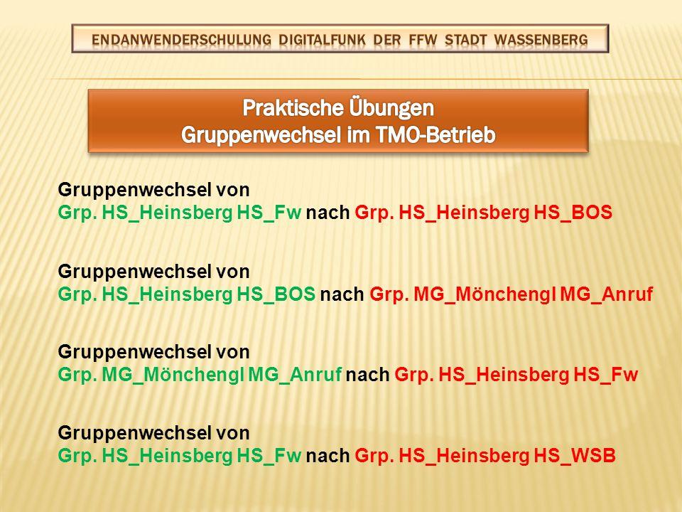 Betriebsartwechsel von TMO nach DMO-Grp.Kreis HS 312_F* Betriebsartwechsel von DMO-Grp.