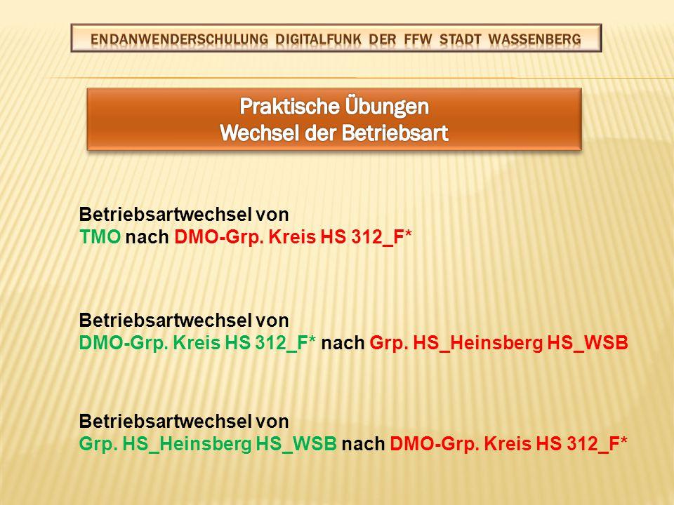 Gruppenwechsel von DMO-Grp.Kreis HS 312_F* nach DMO-Grp.