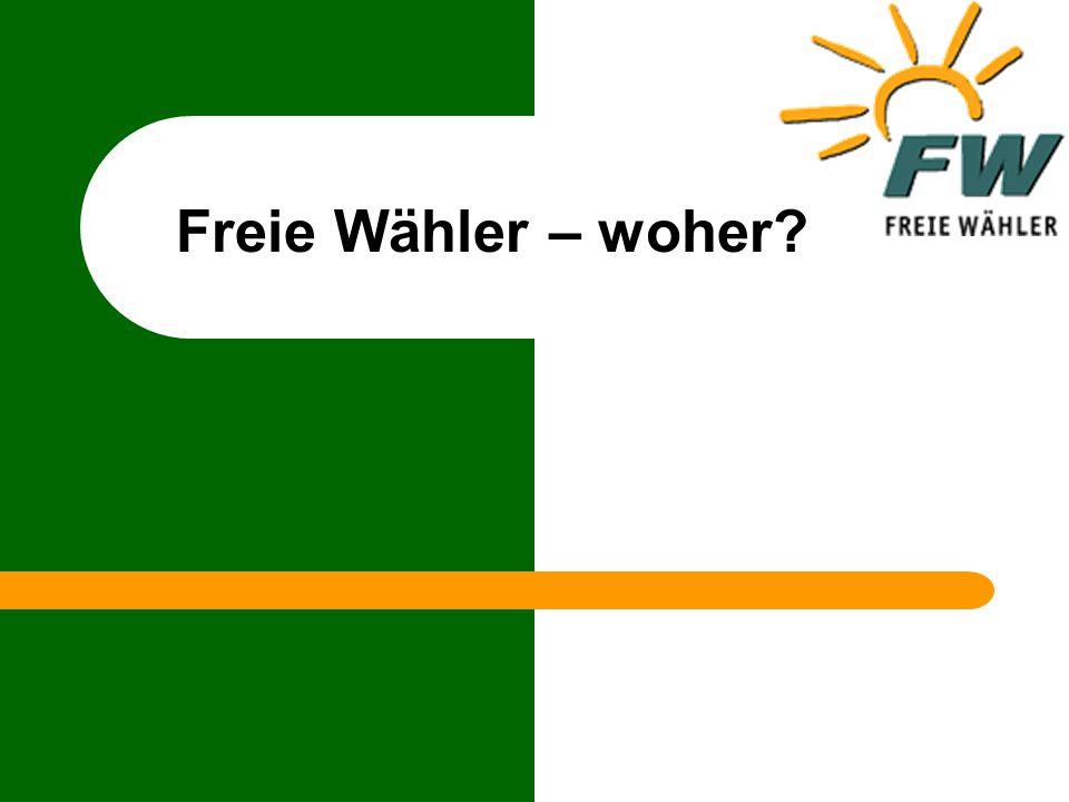 Freie Wähler – woher?