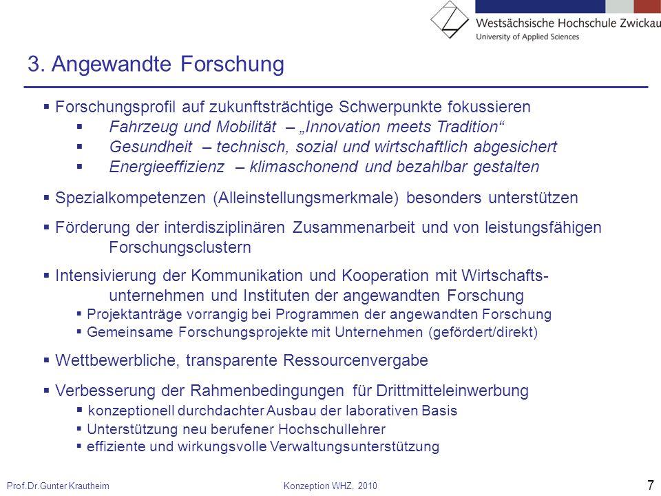 7 Prof.Dr.Gunter KrautheimKonzeption WHZ, 2010 3.