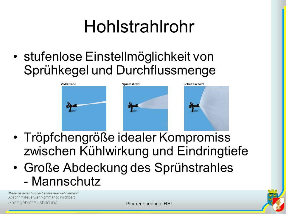 Niederösterreichischer Landesfeuerwehrverband Abschnittsfeuerwehrkommando Kirchberg Sachgebiet Ausbildung Ploiner Friedrich, HBI stufenlose Einstellmö