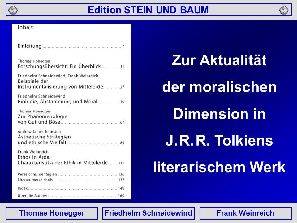 Edition STEIN UND BAUM Thomas HoneggerFriedhelm SchneidewindFrank Weinreich Thomas Honegger Forschungsübersicht: Ein Überblick