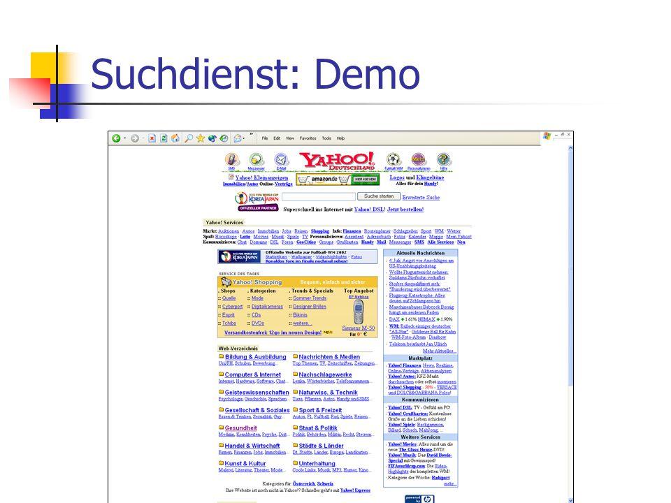 Suchdienst: Demo