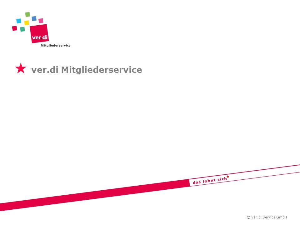   ver.di Mitgliederservice © ver.di Service GmbH