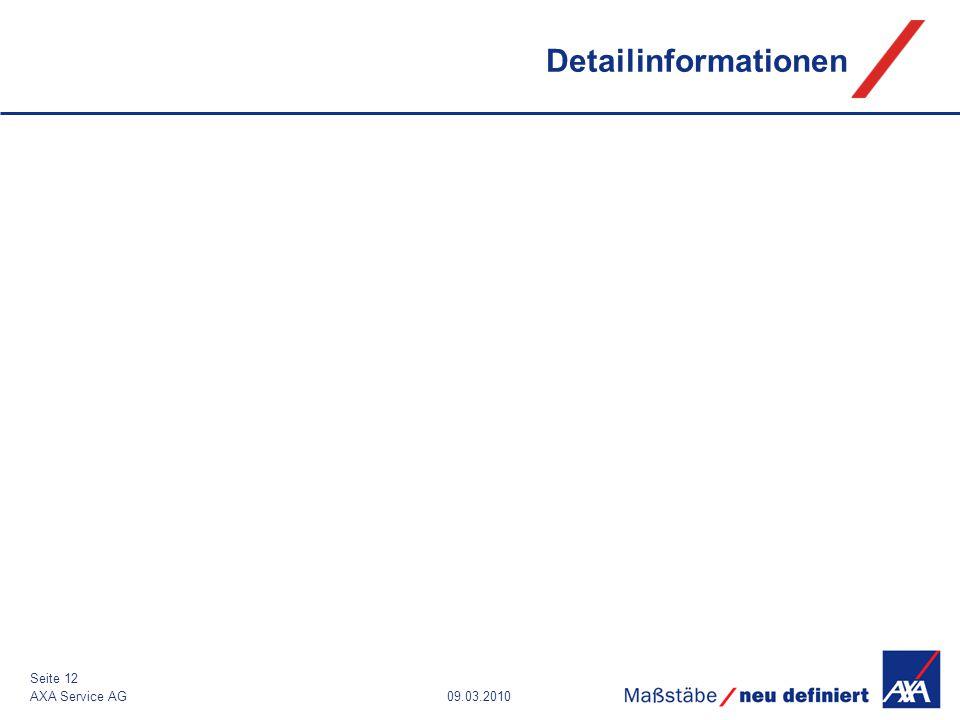 09.03.2010AXA Service AG Seite 12 Detailinformationen