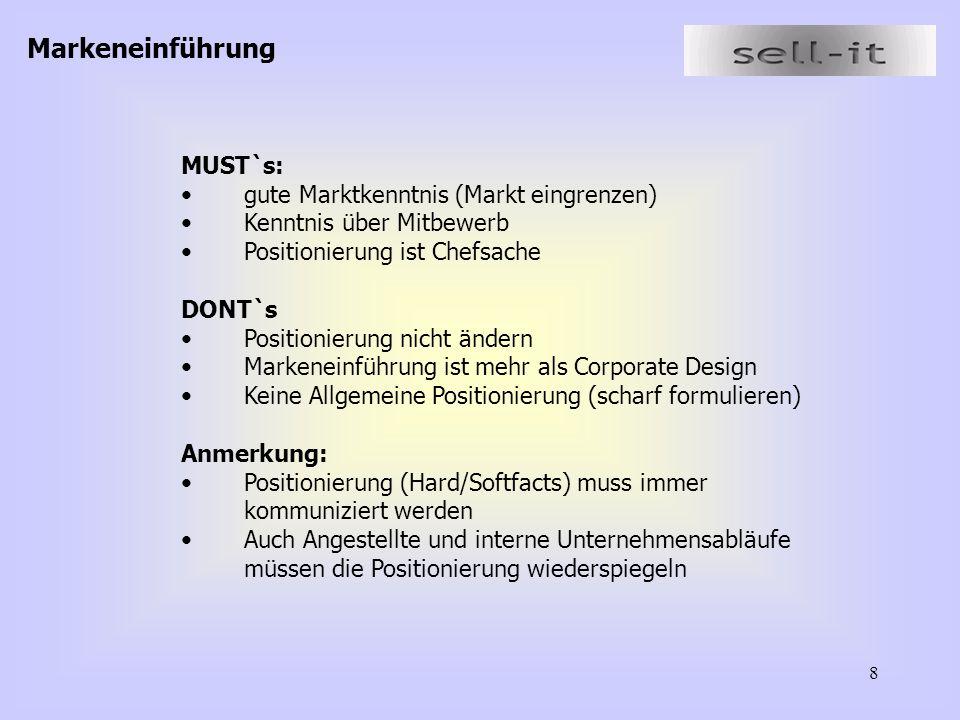 9 2.3Ergebnisse der Workshops Thema: Produkt Bereich: Markenführung