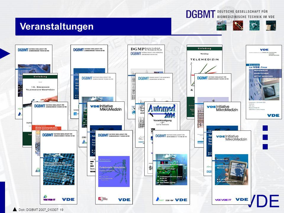 VDE Dok: DGBMT 2007_010307 19 Veranstaltungen