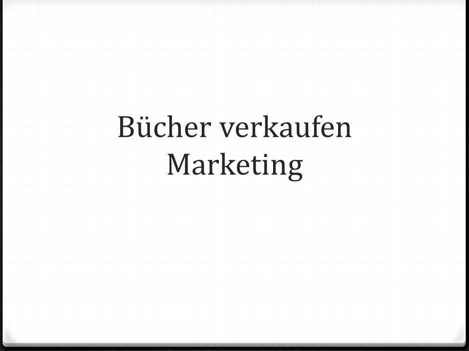 Bücher verkaufen Marketing