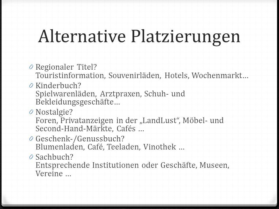 Alternative Platzierungen 0 Regionaler Titel.