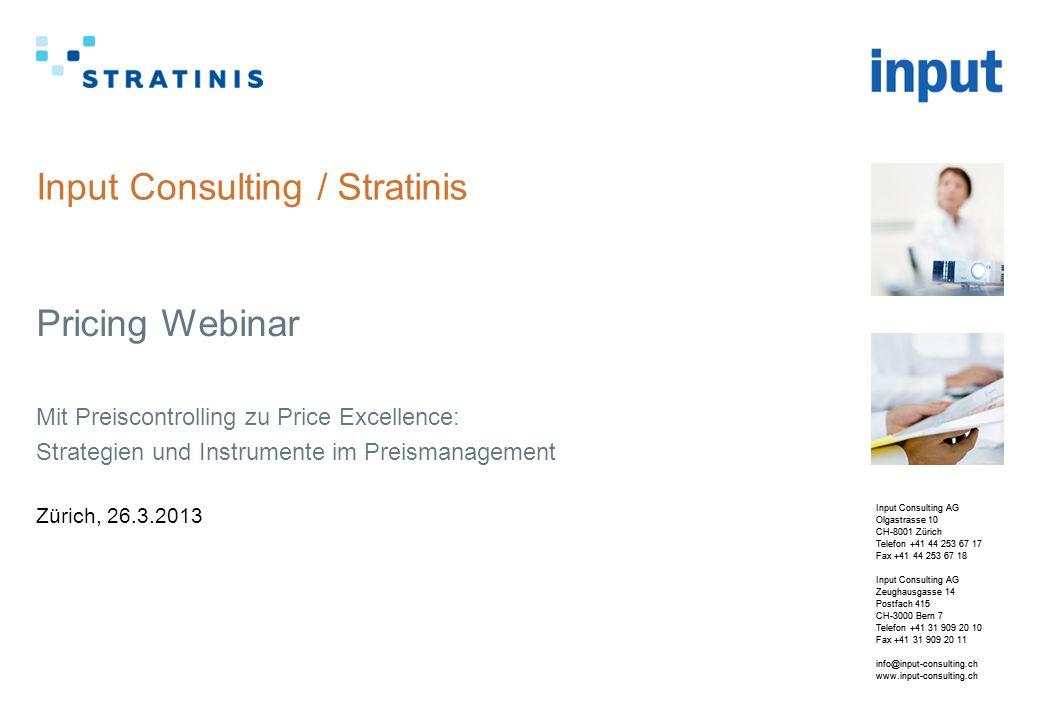 © 2013 | www.input-consulting.ch Ihre Gastgeber 2 Wolfgang Schuster (Senior Projektleiter)  Seit 2009 bei der Firma Input.
