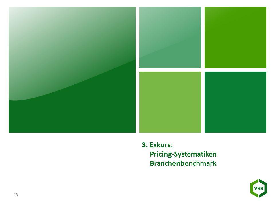 3. Exkurs: Pricing-Systematiken Branchenbenchmark 18