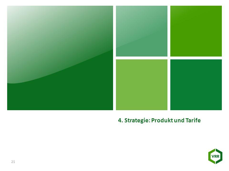 4. Strategie: Produkt und Tarife 21