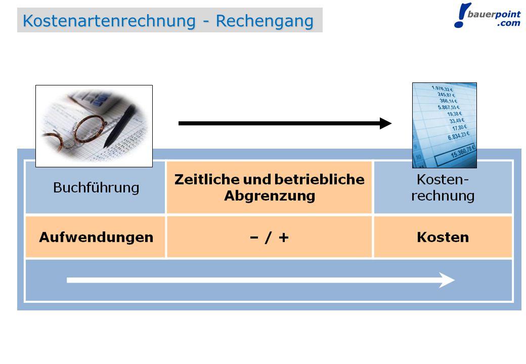 © bauerpoint.com Kostenartenrechnung - Rechengang