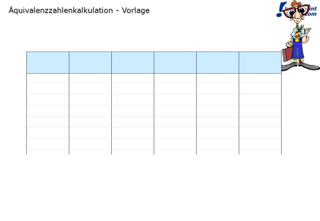 © bauerpoint.com Äquivalenzzahlenkalkulation - Vorlage