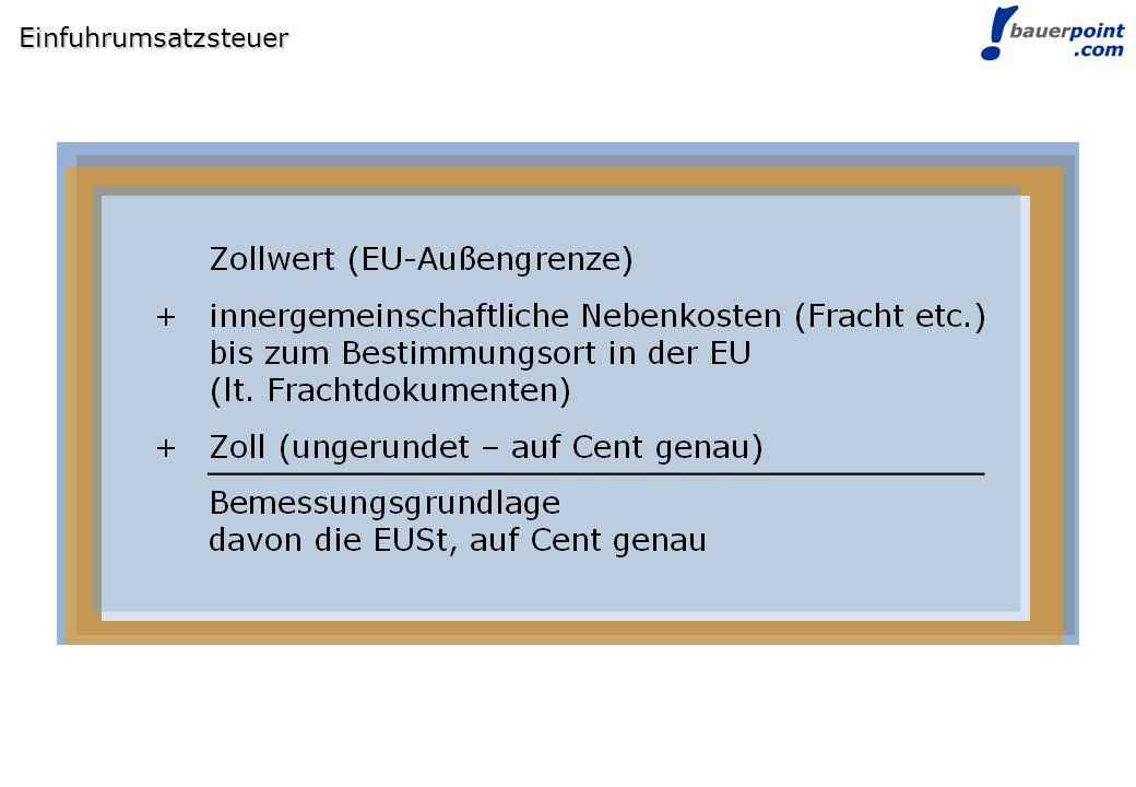 © bauerpoint.com Einfuhrumsatzsteuer