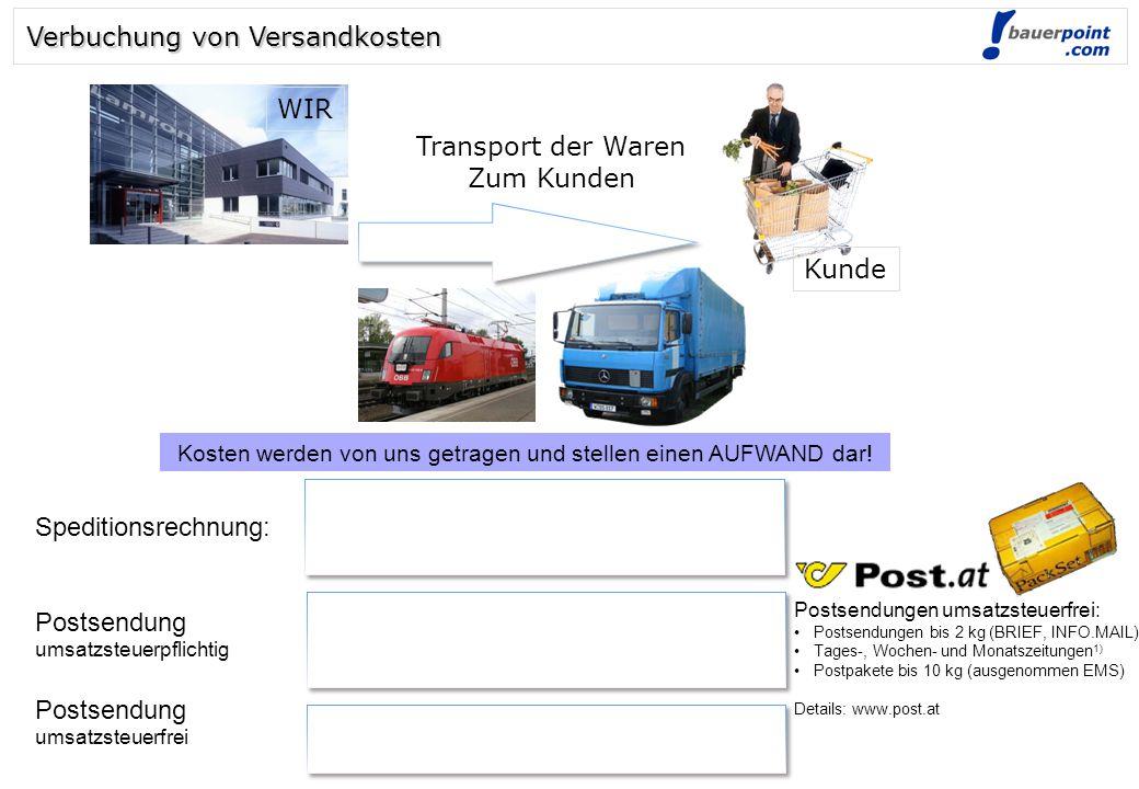 © bauerpoint.com Kosten werden von uns getragen und stellen einen AUFWAND dar.