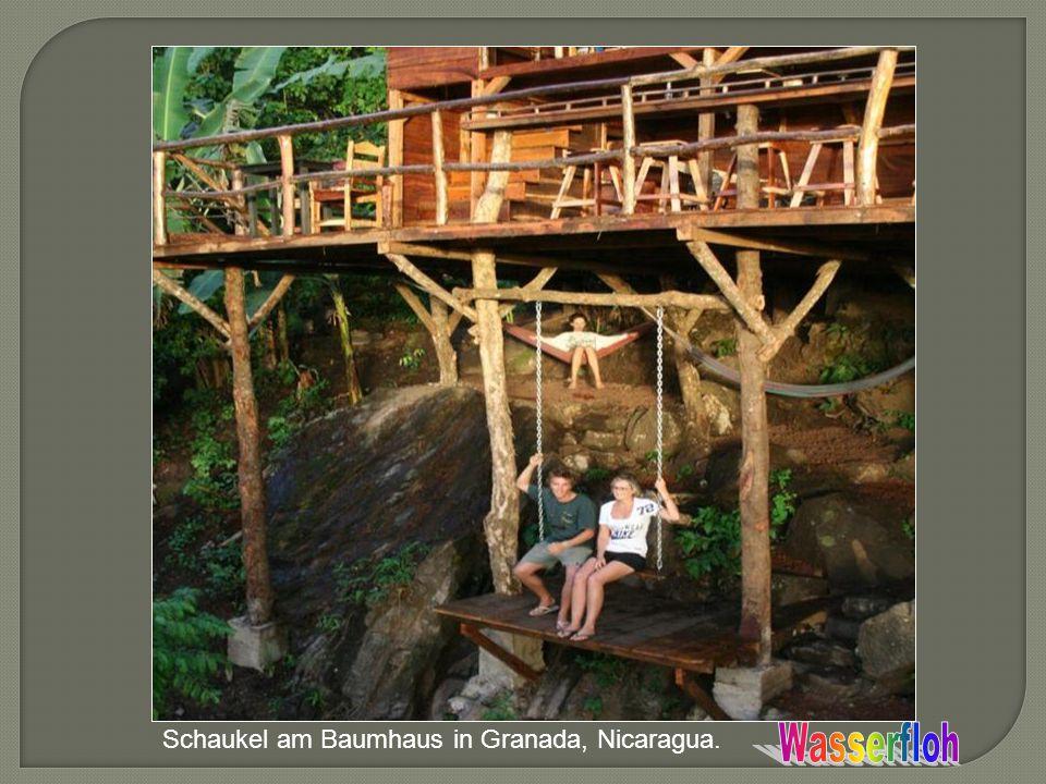 Schaukel am Baumhaus in Granada, Nicaragua.