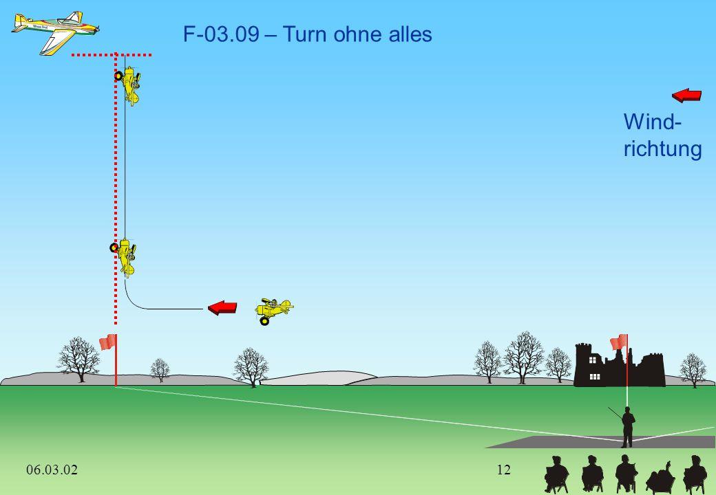 Wind- richtung F-03.08 – 3/4-Punkt-Rolle, 1 1/4 positive Gerissene Rolle 1. und 2. Figur müssen im Zentrum liegen (vom Start bis zum Ende) 06.03.02 11