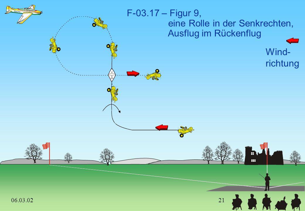 Wind- richtung F-03.16 – Ziehen-Ziehen-Ziehen Humpty-Bump, 8-Punkt-Rolle aufwärts, zwei negative Gerissene Rollen abwärts 06.03.0220