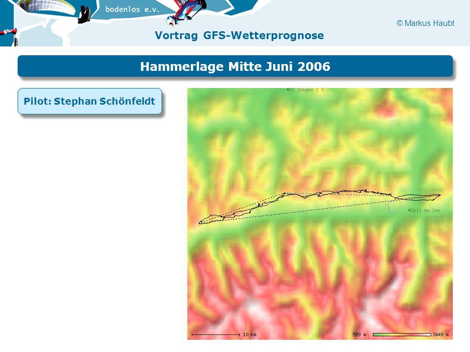 © Markus Haubt Vortrag GFS-Wetterprognose Hammerlage Mitte Juni 2006 Pilot: Stephan Schönfeldt