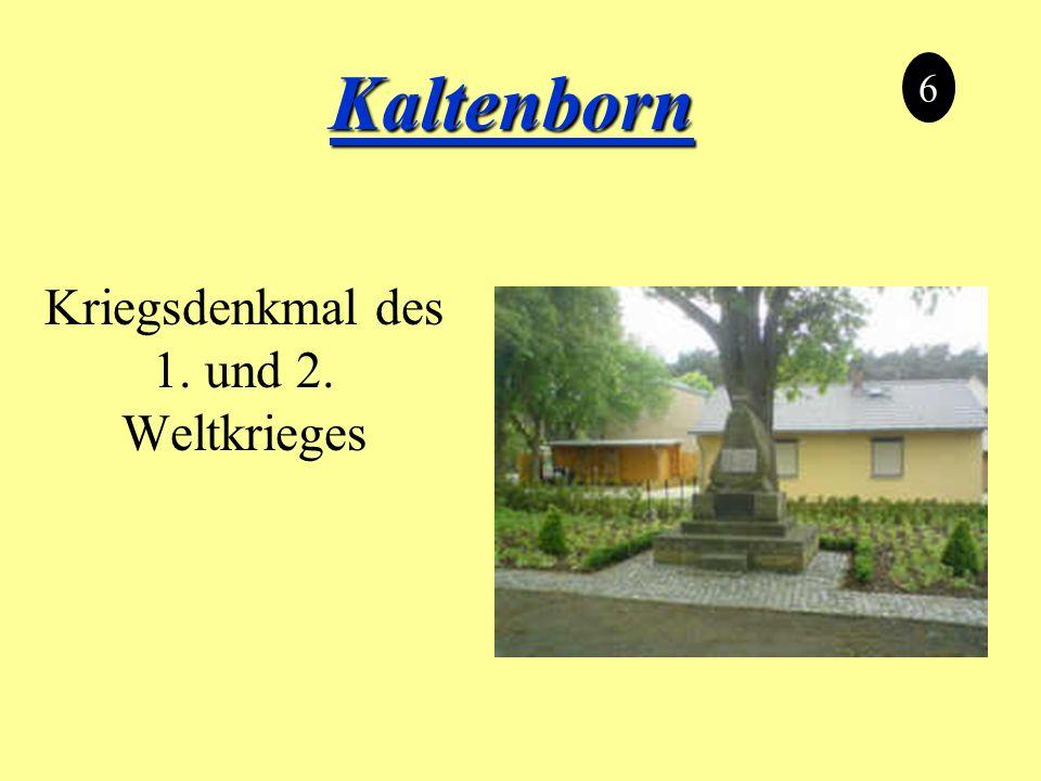 Kaltenborn Kriegsdenkmal des 1. und 2. Weltkrieges 6