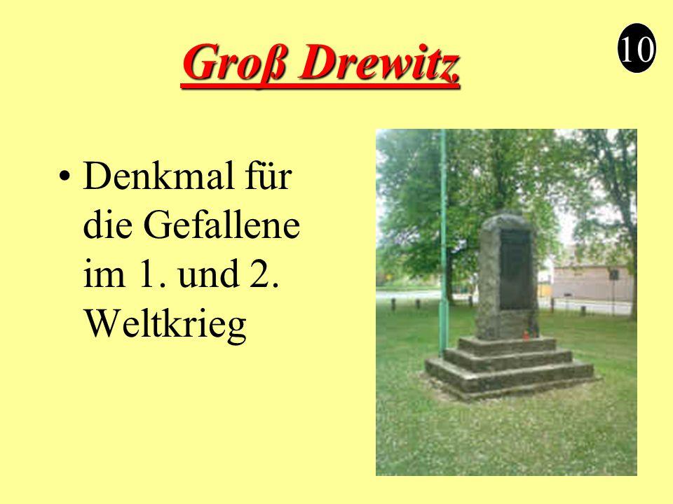 Groß Drewitz Denkmal für die Gefallene im 1. und 2. Weltkrieg 10