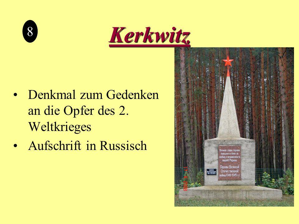 Kerkwitz Denkmal zum Gedenken an die Opfer des 2. Weltkrieges Aufschrift in Russisch 8