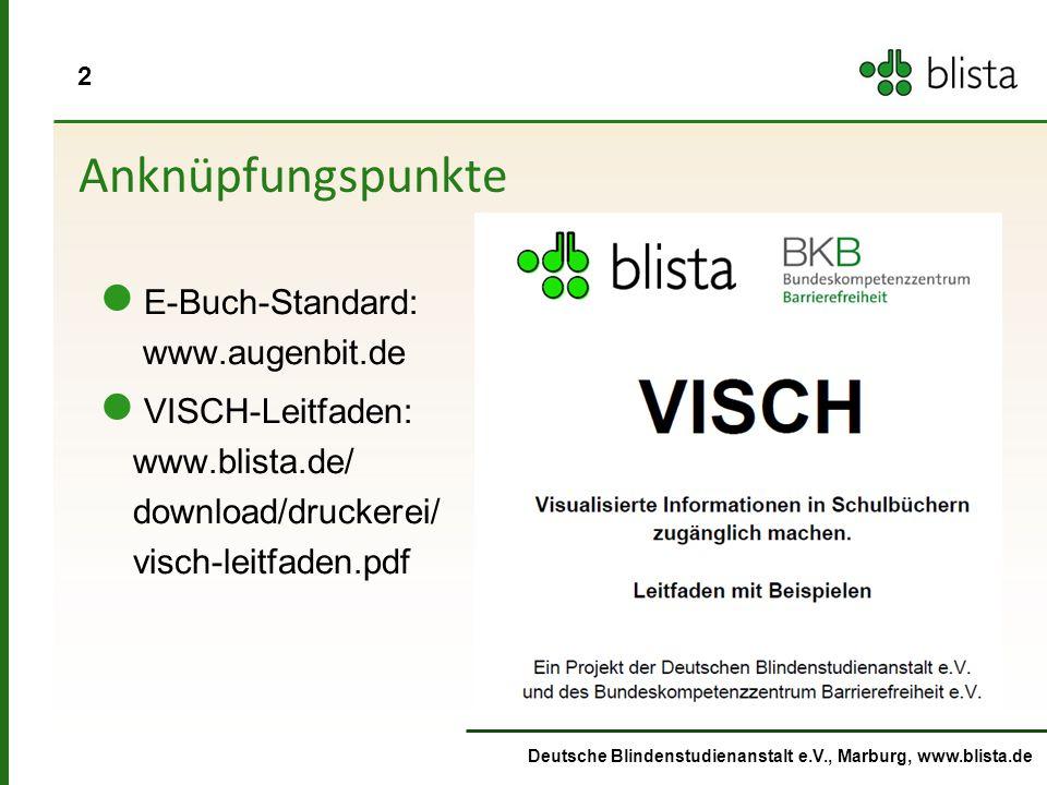 13 Deutsche Blindenstudienanstalt e.V., Marburg, www.blista.de Eigenentwicklung spezifischer Hilfmittel mit 3D-Druck Sinus- Scheibe