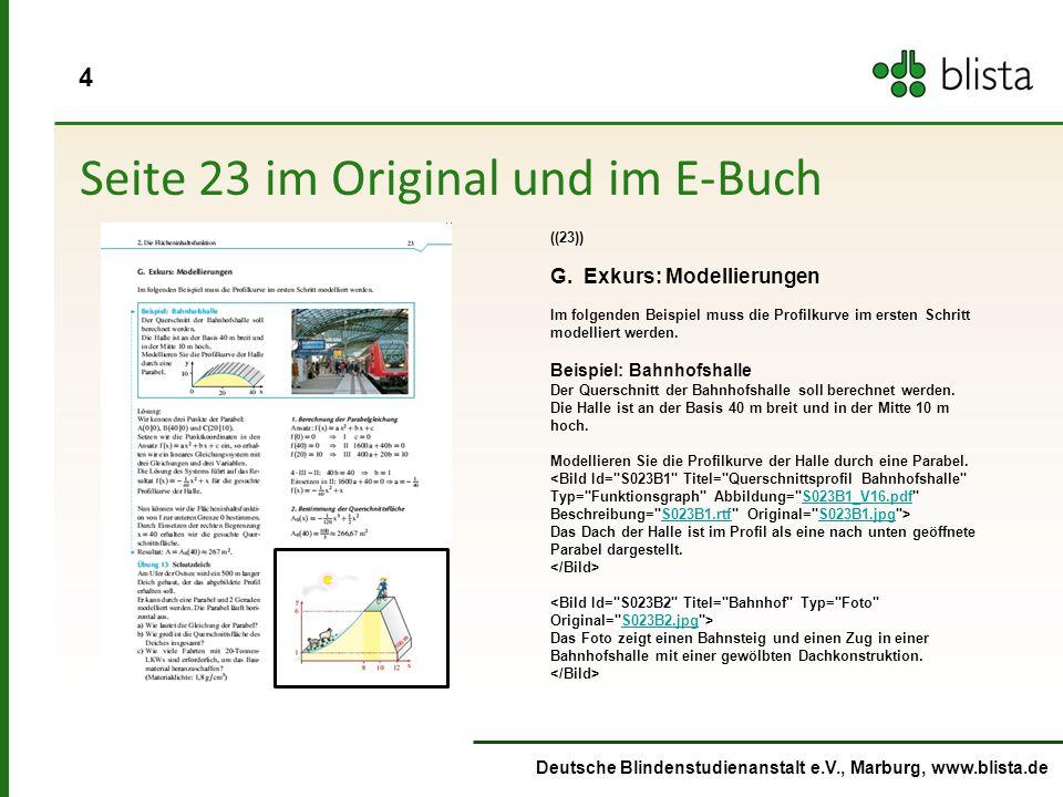 4 Deutsche Blindenstudienanstalt e.V., Marburg, www.blista.de Seite 23 im Original und im E-Buch ((23)) G.