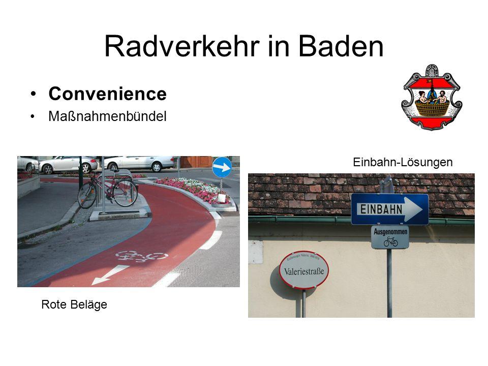 Convenience Maßnahmenbündel Rote Beläge Einbahn-Lösungen