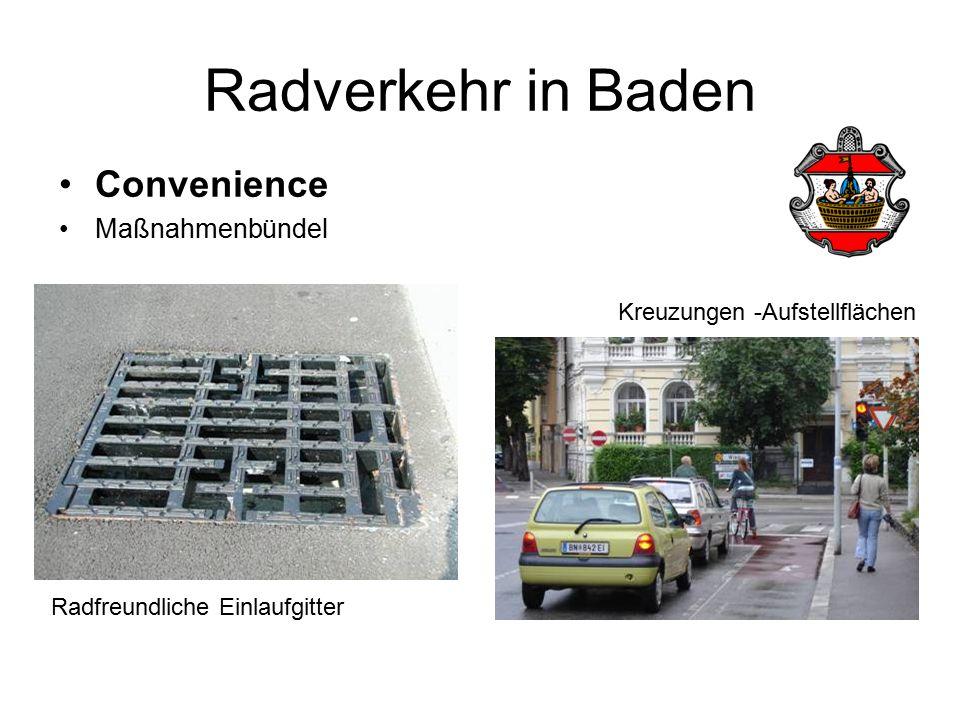 Radverkehr in Baden Convenience Maßnahmenbündel Radfreundliche Einlaufgitter Kreuzungen -Aufstellflächen