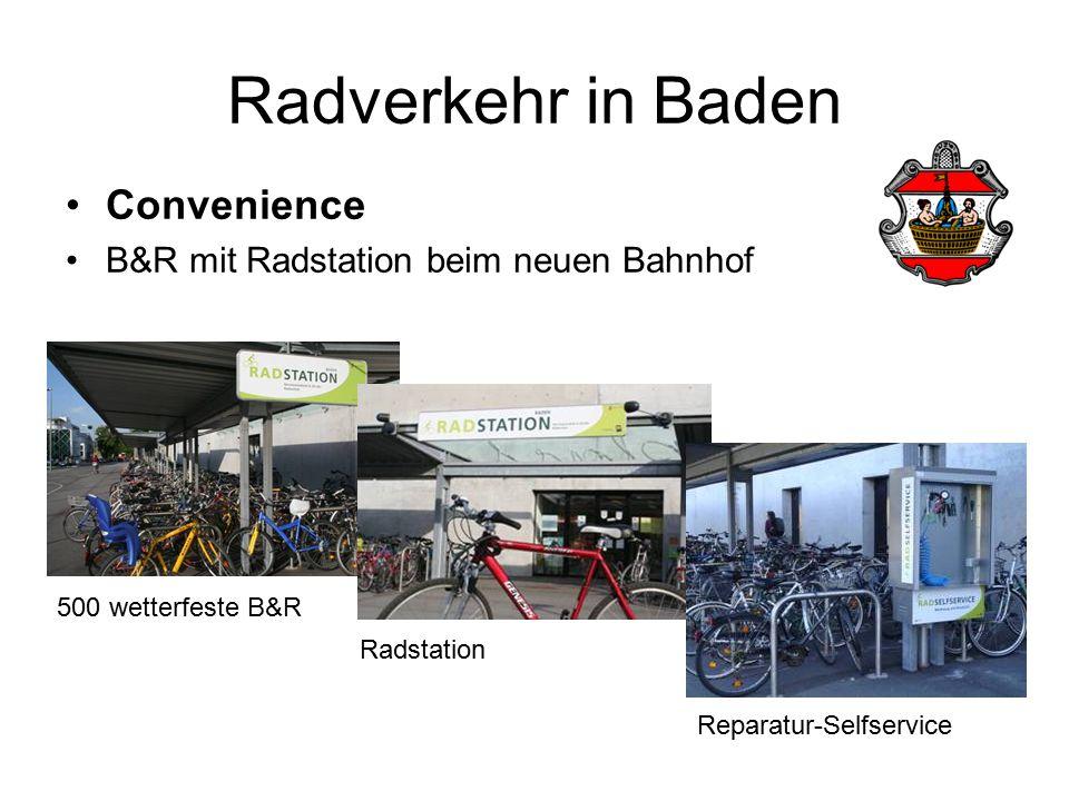 Radverkehr in Baden Convenience B&R mit Radstation beim neuen Bahnhof 500 wetterfeste B&R Reparatur-Selfservice Radstation