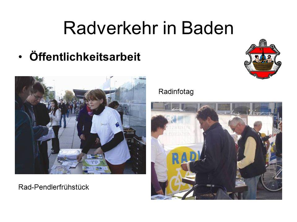 Radverkehr in Baden Öffentlichkeitsarbeit Rad-Pendlerfrühstück Radinfotag