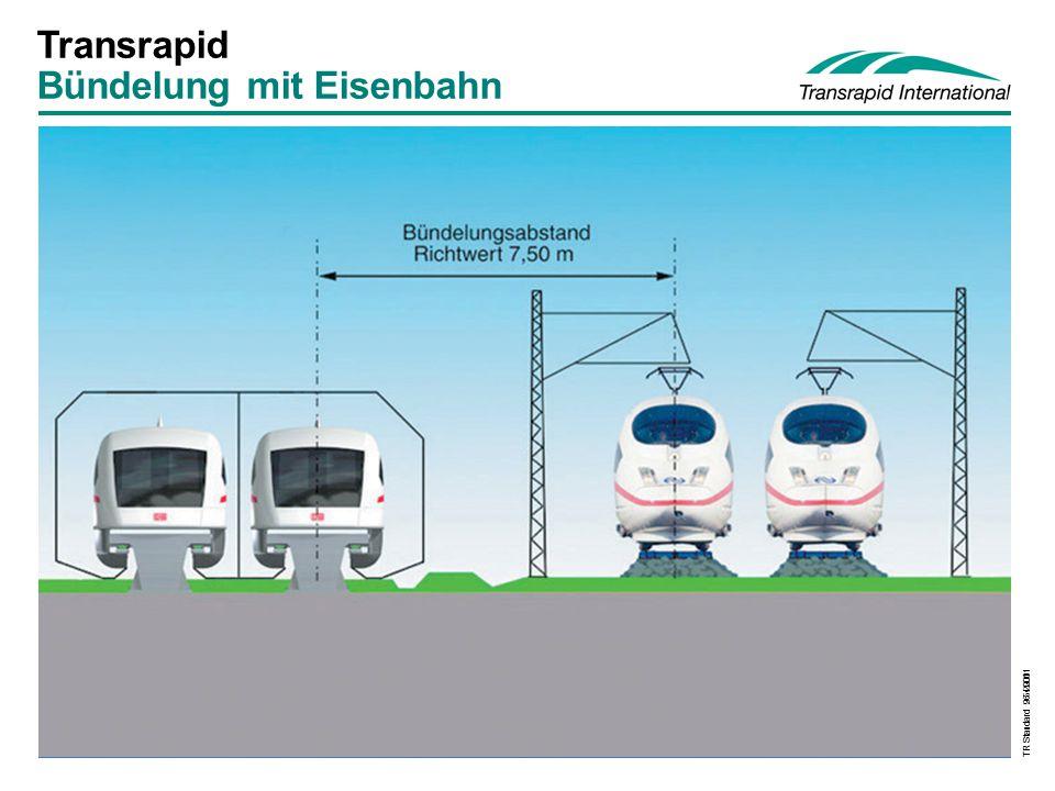 TR Standard 9.5.2001 Transrapid Bündelung mit Eisenbahn TR Standard 26.4.2001