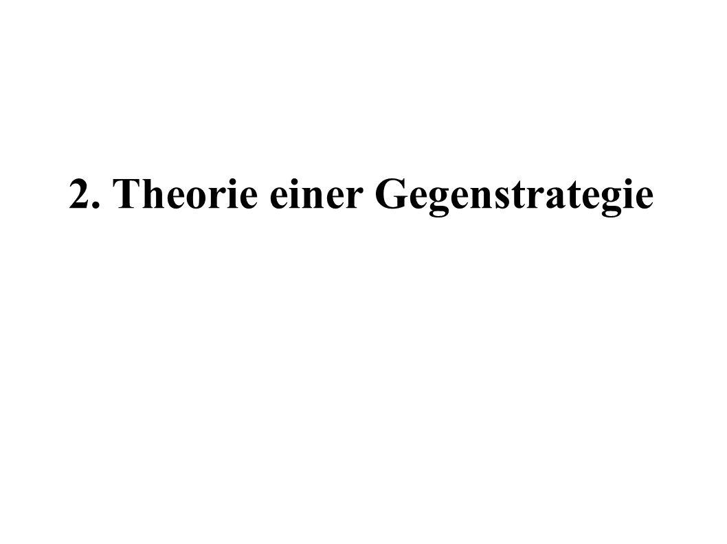 2. Theorie einer Gegenstrategie