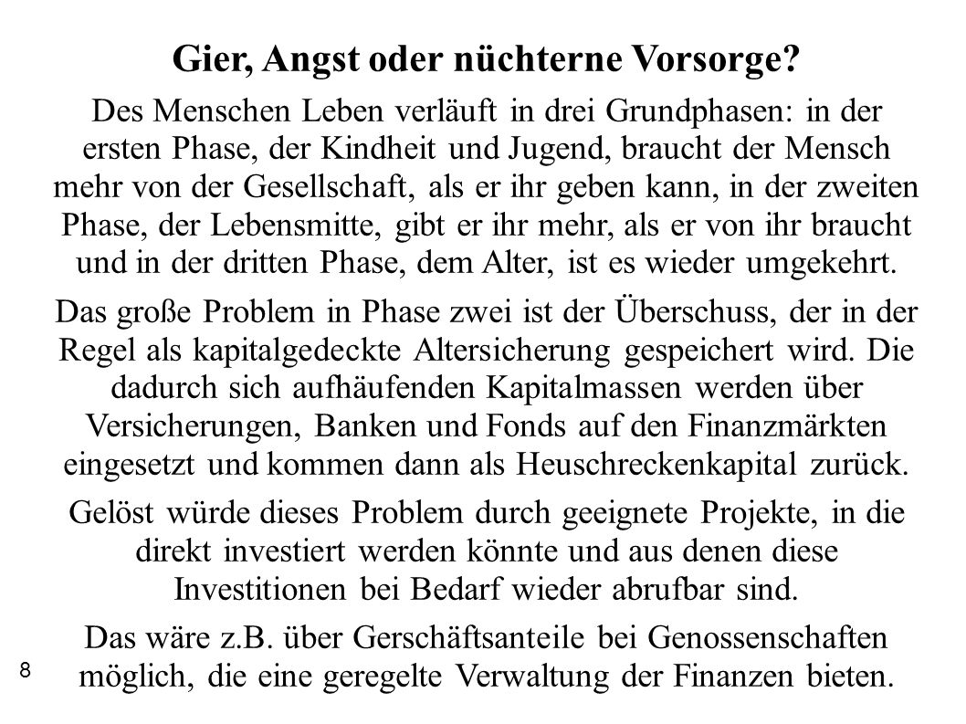 """Erste Gründungen """"neuer Genossenschaften Während Elinor Ostrom vorwiegend Genossenschaften beschreibt, die Ressourcen verwalten, bildeten sich im Kapitalismus des 18."""