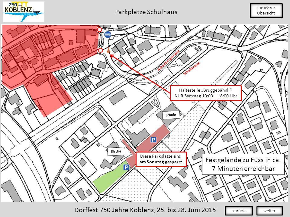 Schule Kirche Achenbergstrasse Schulstrasse Zurück zur Übersicht Festgelände zu Fuss in ca.