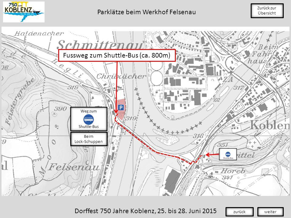 Zurück zur Übersicht Dorffest 750 Jahre Koblenz, 25.