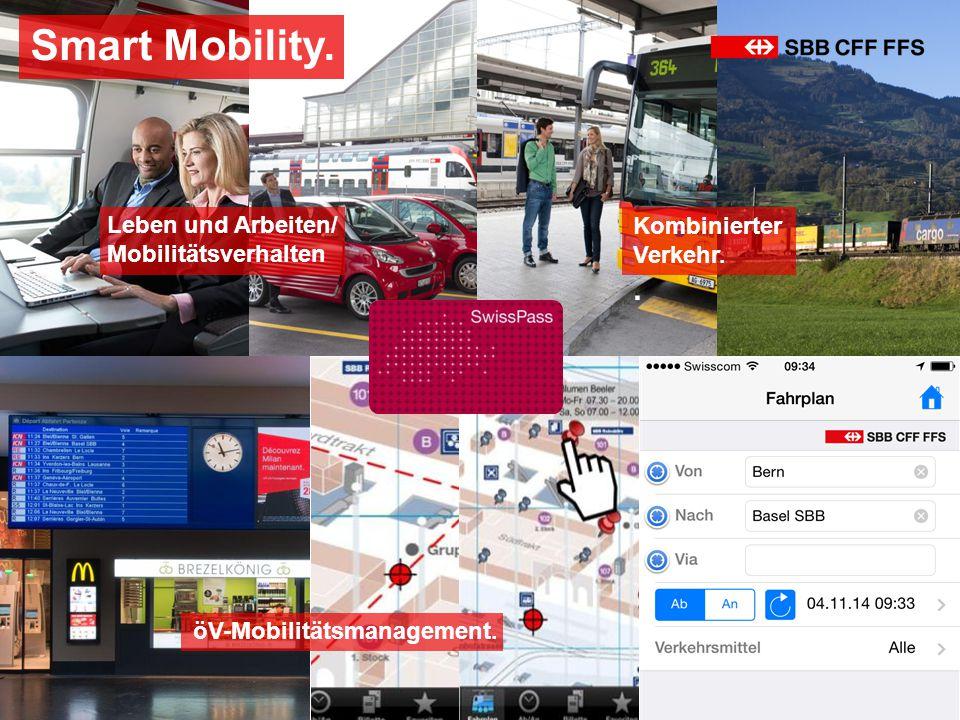 öV-Mobilitätsmanagement. Kombinierter Verkehr.. Smart Mobility. Leben und Arbeiten/ Mobilitätsverhalten