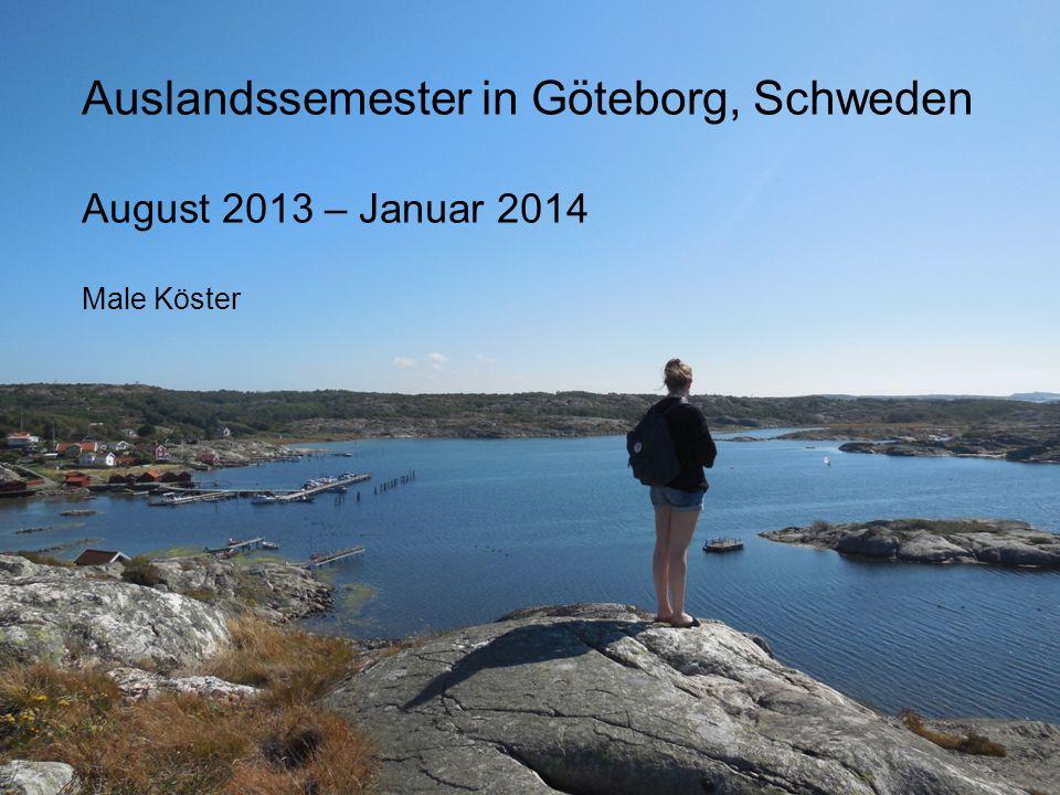 Auslandssemester in Göteborg, Schweden August 2013 – Januar 2014 Male Köster