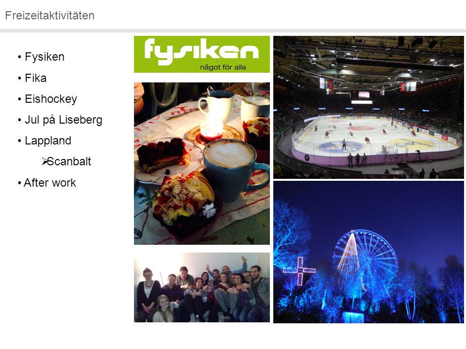 Freizeitaktivitäten Fysiken Fika Eishockey Jul på Liseberg Lappland  Scanbalt After work