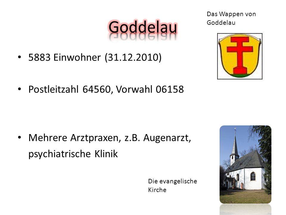 5883 Einwohner (31.12.2010) Postleitzahl 64560, Vorwahl 06158 Mehrere Arztpraxen, z.B.