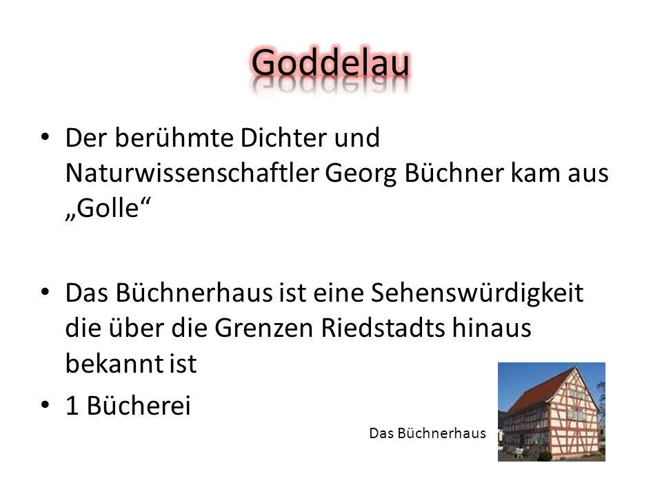 """Der berühmte Dichter und Naturwissenschaftler Georg Büchner kam aus """"Golle Das Büchnerhaus ist eine Sehenswürdigkeit die über die Grenzen Riedstadts hinaus bekannt ist 1 Bücherei Das Büchnerhaus"""